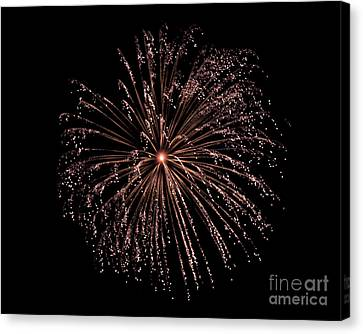 Canvas Print featuring the photograph Fireworks 3 by Mark Dodd