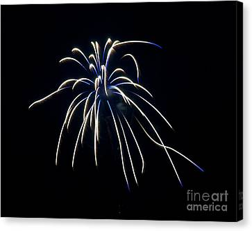 Canvas Print featuring the photograph Fireworks 4 by Mark Dodd