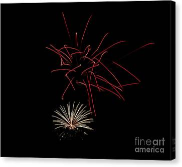 Canvas Print featuring the photograph Fireworks 6 by Mark Dodd