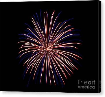 Canvas Print featuring the photograph Fireworks 7 by Mark Dodd