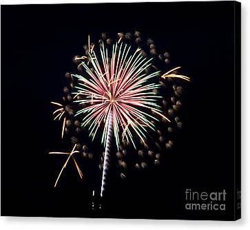 Canvas Print featuring the photograph Fireworks 9 by Mark Dodd