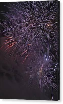 Fireworks, Crowsnest Pass, Alberta Canvas Print by Michael Interisano