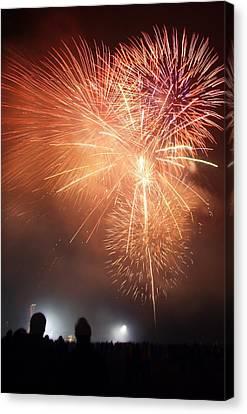 Fireworks Display Canvas Print by Cordelia Molloy