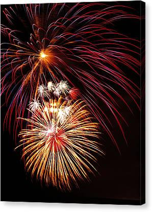 Fireworks Display Canvas Print by G. Brad Lewis