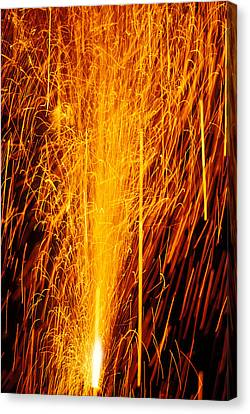 Fireworks Fountain Canvas Print by Garry Gay