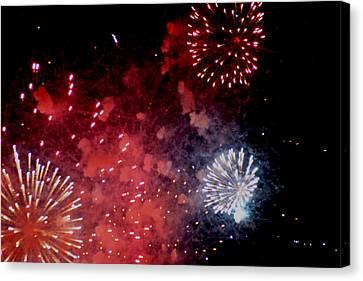 Fireworks II Canvas Print by Kelly Hazel