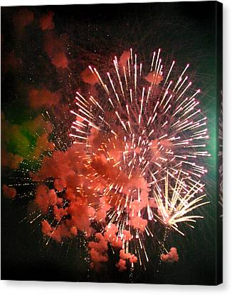 Fireworks Canvas Print by Kelly Hazel