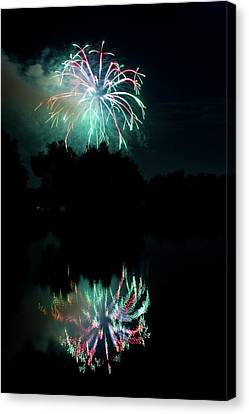 The Lightning Man Canvas Print - Fireworks On Golden Ponds. by James BO  Insogna