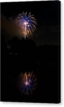 Fireworks Reflection Canvas Print by James BO  Insogna