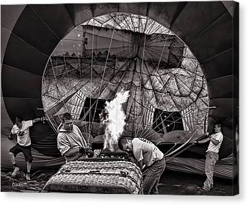 Firing The Burners Canvas Print by Bob Orsillo