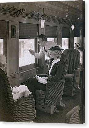 First Class Passengers In An Canvas Print by Everett