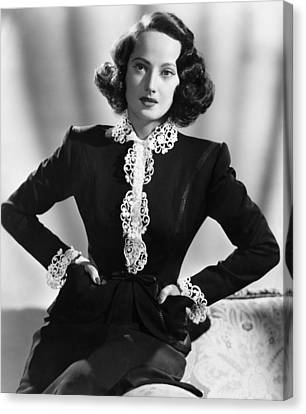 First Comes Courage, Merle Oberon, 1943 Canvas Print
