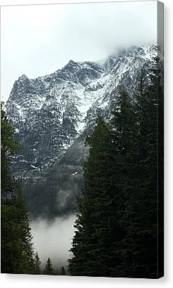 First Day In Glacier Canvas Print by Amanda Kiplinger