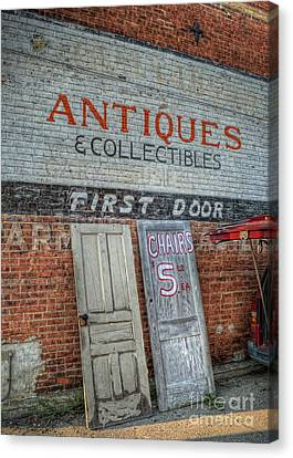 First Door Antiques Canvas Print by Pamela Baker