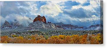 First Dusting Of Snow Canvas Print by Dan Turner