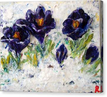 First Flowers Canvas Print