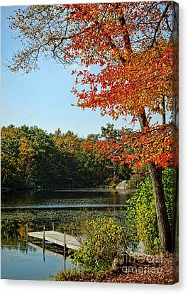 First Glimpse Of Fall Canvas Print