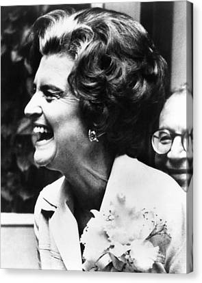 First Lady Betty Ford�s Campaigning Canvas Print by Everett