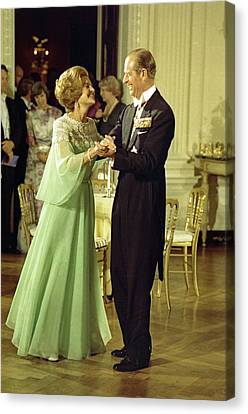 First Lady Betty Ford And Prince Philip Canvas Print by Everett