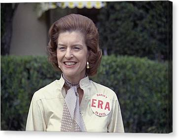 First Lady Betty Ford Sports A Button Canvas Print by Everett