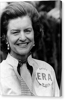 First Lady Betty Ford Wears A Badge Canvas Print by Everett