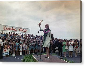 First Lady Campaigning In Hawaii. A Canvas Print by Everett
