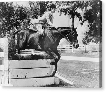 First Lady Jacqueline Kennedy, Riding Canvas Print