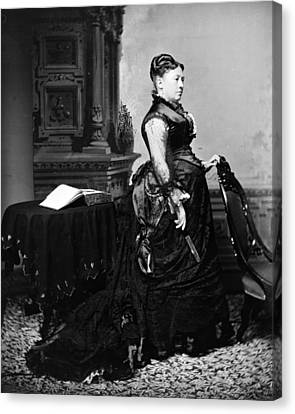 First Lady Julia Dent Grant, Wife Canvas Print by Everett