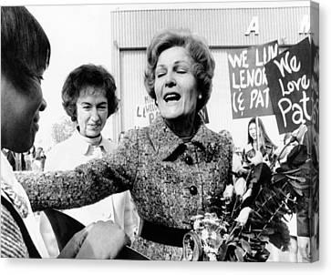 First Lady Pat Nixon Visiting Detroit Canvas Print by Everett
