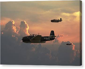 First Light Strike Canvas Print by Pat Speirs