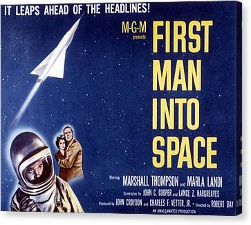 First Man Into Space, 1959 Canvas Print by Everett