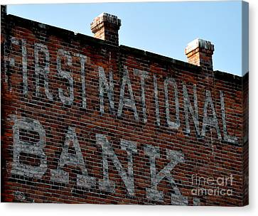 First National Bank Canvas Print by Tanya  Searcy