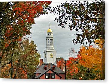 First Parish Church Canvas Print by Joann Vitali