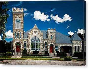 First Presbyterian Church Of Eustis Canvas Print by Christopher Holmes