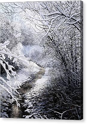 First Snow Canvas Print by David Bottini