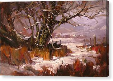 First Snow Canvas Print by Richard Robinson