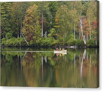 Fish Creek Pond In Adirondack Park - New York Canvas Print by Brendan Reals