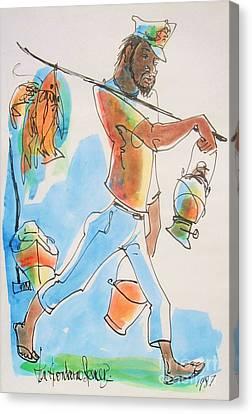 Haitian Canvas Print - Fish Man by Carey Chen