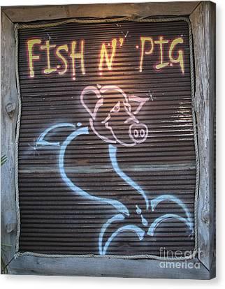 Fish N' Pig Canvas Print