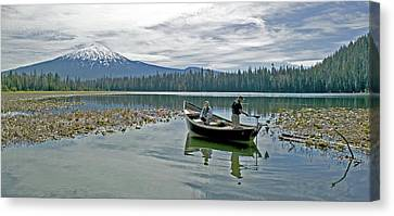 Fish On Canvas Print by Earl Berg
