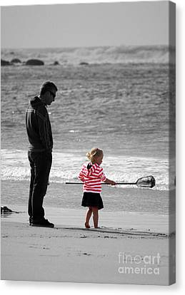 Canvas Print featuring the photograph Fish With Me Daddy by Terri Waters