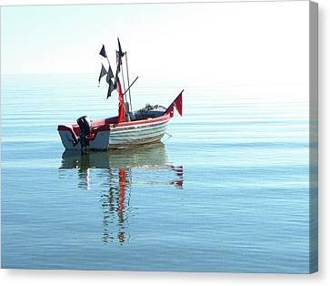 Fisher-boat In Baltic Sea Canvas Print by Km-foto