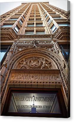Fisher Building Chicago Canvas Print by Steve Gadomski