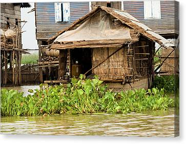 Bamboo House Canvas Print - Fisherman Boat House by Artur Bogacki