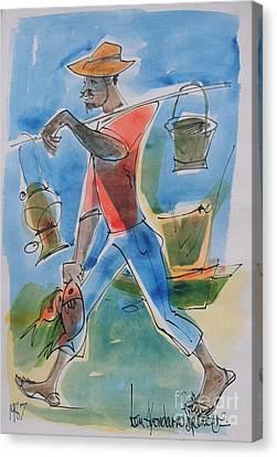 Haitian Canvas Print - Fisherman by Carey Chen
