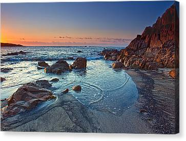 Canvas Print featuring the photograph Fishermans Bay Sunrise by Paul Svensen