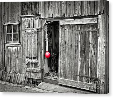 Fishermans Shed Canvas Print by Lutz Baar