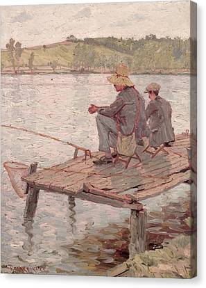 Fishermen Canvas Print by Pierre Roche