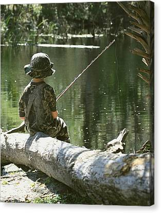 Fishin' And Wishin' Canvas Print