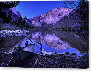 Fishing At Convict Lake Canvas Print by Sean Foster